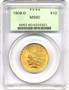 Image of 1909-D $10 PCGS MS60 OGH