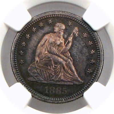 Image of 1885 25c NGC Proof 65 * Color *