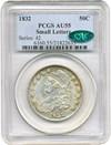 Image of 1832 50c PCGS/CAC AU55