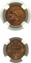 Image of 1856 1c NGC Proof 65 (Flying Eagle)