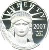 Image of 2007-W $50 NGC Proof 70 UCameo (Platinum Eagle)