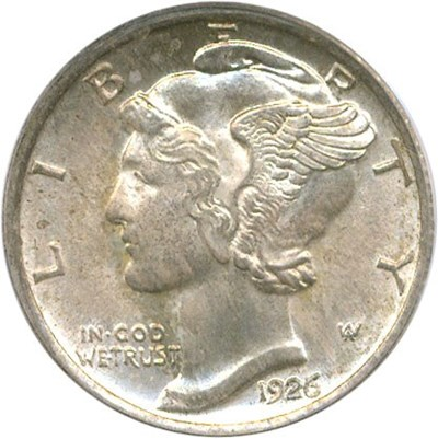 Image of 1926-D 10c PCGS/CAC MS65 FB