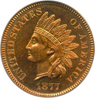 Image of 1877 1c PCGS Proof 66 RD