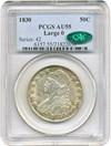 Image of 1830 50c PCGS/CAC AU55
