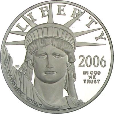 Image of 2006-W $100 PCGS Proof 70 DCameo (Platinum Eagle)