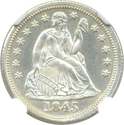 Image of 1845 10c NGC Proof 65 Cameo