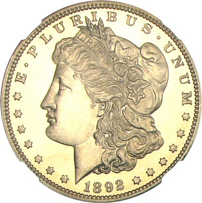 Image of 1892 $1 NGC Proof 67 Cameo