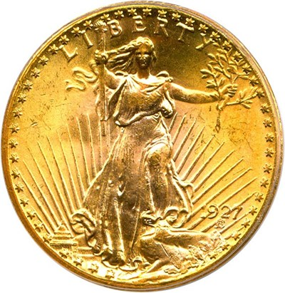 Image of 1927 $20 PCGS/CAC MS65 OGH