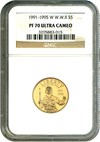 Image of 1991-95-W $5 NGC Proof 70 UCameo (W.W. II)