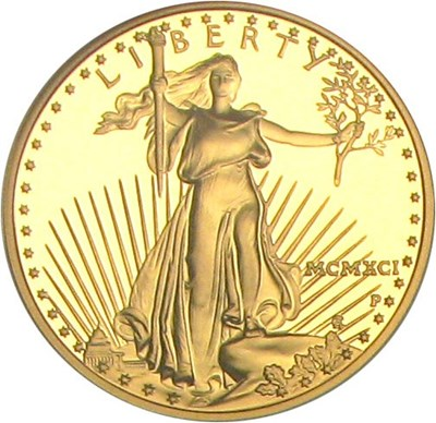 Image of 1991-P $25 NGC Proof 70 UCameo (Gold Eagle)