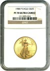 Image of 1988-P $25 NGC Proof 70 UCameo (Gold Eagle)