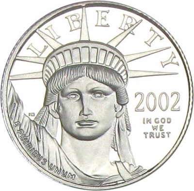 Image of 2002-W $10 NGC Proof 70 UCameo (Platinum Eagle)