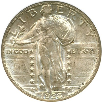 Image of 1926-D 25c NGC/CAC MS65