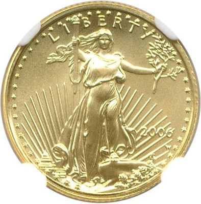 Image of 2006-W $5 NGC MS70 (Gold Eagle)