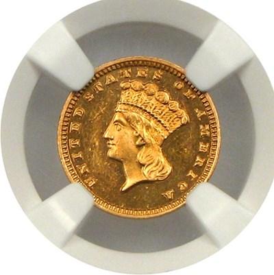 Image of 1884 G$1 NGC Proof 63