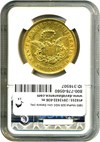 Image of 1853 Moffat $20 NGC Unc Details (Improperly Cleaned)