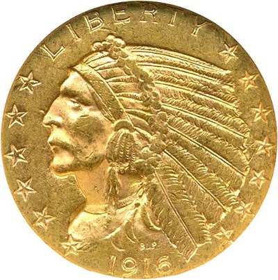 Image of 1916-S $5 NGC MS61