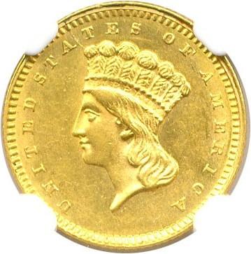 Image of 1864 G$1 NGC MS62