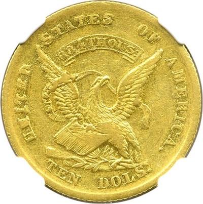 Image of 1852 Humbert $10 NGC AU53