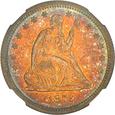 Image of 1879 25c NGC/CAC Proof 61