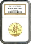 Image of 1984-S $10 NGC Proof 70 UCameo (Olympic)