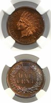 Image of 1865 1c NGC/CAC Proof 63 BN