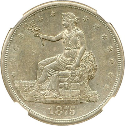 Image of 1875-S/CC Trade$ NGC AU55 (Type 1 reverse, FS-501)