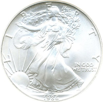 Image of 1986 $1 NGC MS70 (Silver Eagle)