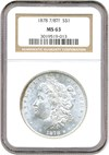 Image of 1878 7/8TF $1 NGC MS63 (Strong)