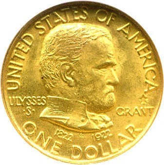 Image of 1922 Grant G$1 NGC MS66 (with Star)