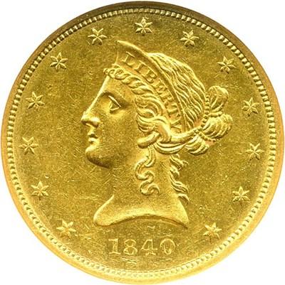 Image of 1840 $10 NGC AU58