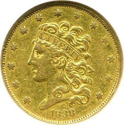 Image of 1838-C $5 NGC XF45