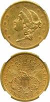 Image of 1866-S $20 NGC AU53 (Motto)