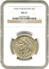 Image of 1935/34 Boone 50c NGC MS67