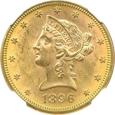Image of 1896 $10 NGC MS63