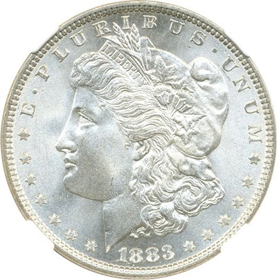 Image of 1883 $1 NGC/CAC MS66