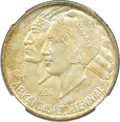 Image of 1935 Arkansas 50c NGC/CAC MS65