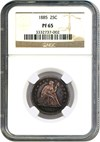 Image of 1885 25c NGC Proof 65