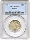 Image of 1916 25c PCGS MS65 (Barber)