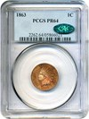 Image of 1863 1c PCGS/CAC Proof 64