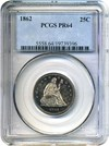 Image of 1862 25c PCGS Proof 64