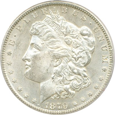Image of 1879-CC $1 PCGS MS64 (Capped Die, VAM-3)