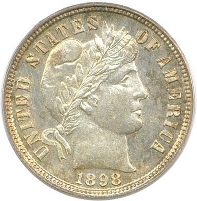 Image of 1898 10c PCGS Proof 64
