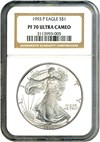 Image of 1993-P $1 NGC Proof 70 UCameo (Silver Eagle)