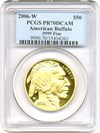 Image of 2006-W $50 PCGS Proof 70 DCameo (American Buffalo)