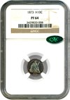 Image of 1873 H10c NGC/CAC Proof 64 * Color *