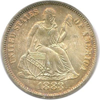 Image of 1883 10c PCGS/CAC MS66