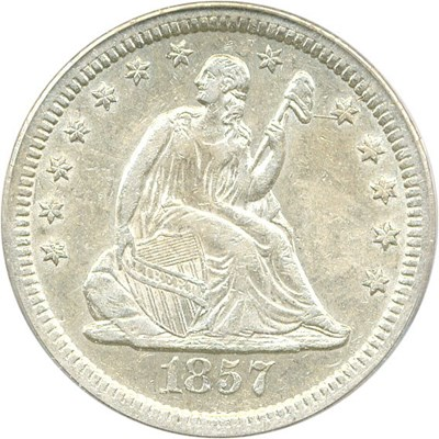 Image of 1857-S 25c PCGS AU50