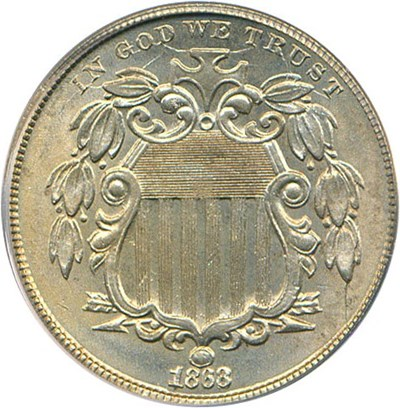 Image of 1868 5c PCGS/CAC MS65