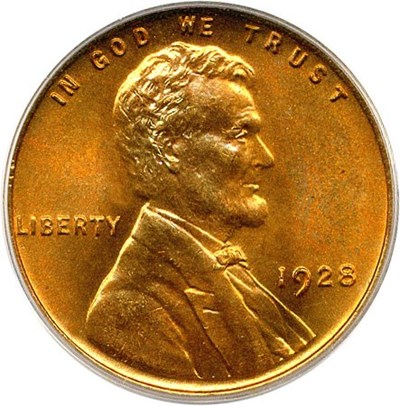 Image of 1928 1c PCGS MS67 RD OGH